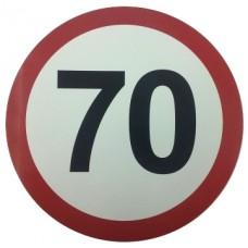 """Наклейка """"Ограничение скорости 70 км/ч"""""""